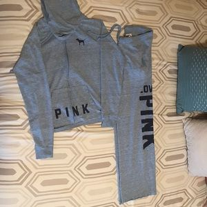 PINK Sweat pants and jacket